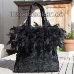 Handtasche aus schwarzer Spitze
