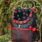 Schwarz-roter Rucksack